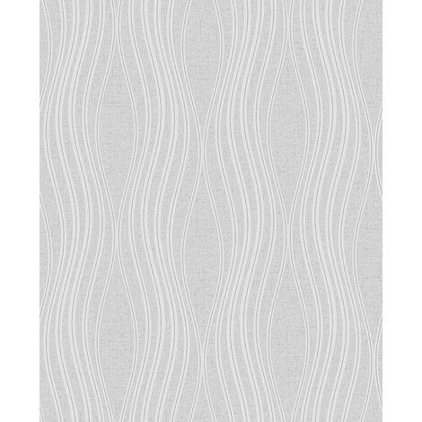 Quartz Wave Wallpaper Fine Decor Silver Grey Glitter Metallic Textured Vinyl