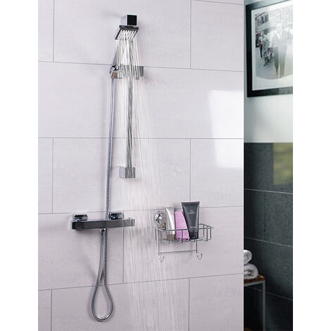 Quattro Thermostatic Bar Valve Mixer Shower With Thames Slide Rail Kit