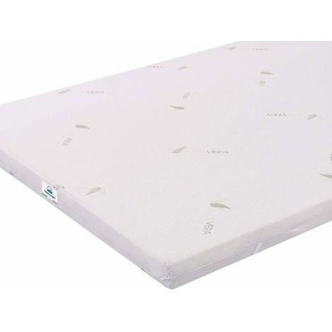 Queen-Size 160X190 5 cm Memory Foam Mattress Topper Aloe with Vera Coating TOP5