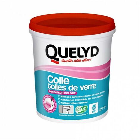 QUELYD COLLE TOILE DE VERRE ROSE 1KG (Vendu par 1)
