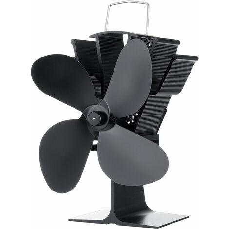 Quemador de leña de leña con ventilador de estufa de 4 aspas de 1400 RPM