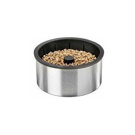 Quemador de pellets Q10 para insertar y recibir leños de 30 a 45 cm.