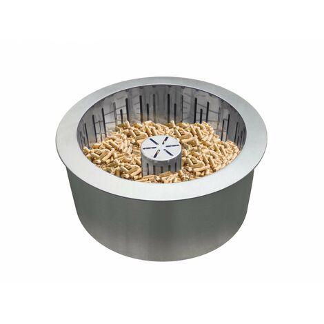Quemador pellet en acero inox doble capa con cesta recoge cenizas PB25 de PURLINE