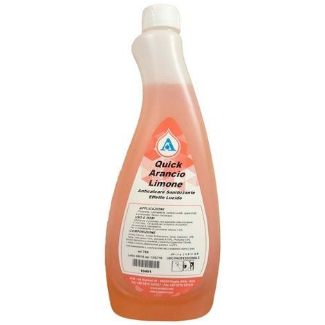 Quick Arancio Limone Anticalcare Sanitizzante Lucidante per Rubinetterie e Sanitari Puliti Prodotto Italiano 750