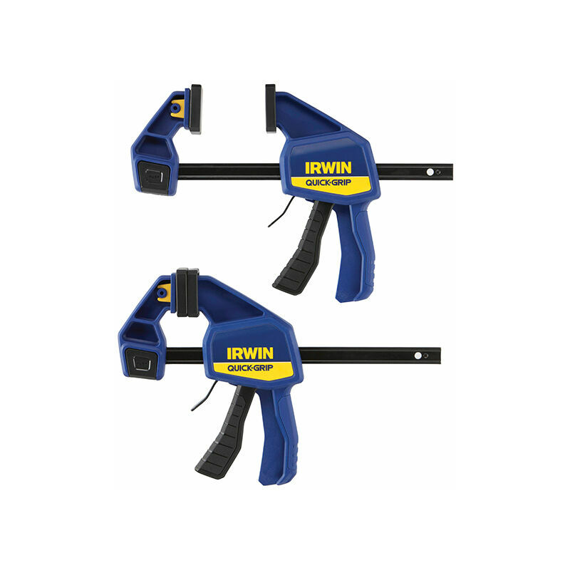 Image of Irwin T5062QCEL7 Quick-Change Medium-Duty Bar Clamp 150mm (6in) Twin Pack - IRWIN TOOLS