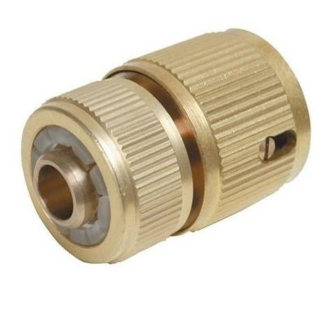 """Quick Connector Auto Stop Brass - 1/2"""" Female"""