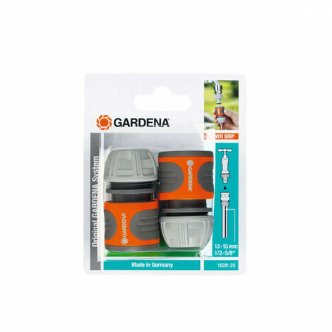 """Quick couplings for 13 mm 1/2"""" and 15 mm 5/8"""" garden hoses GARDENA - 18281-20 x2"""