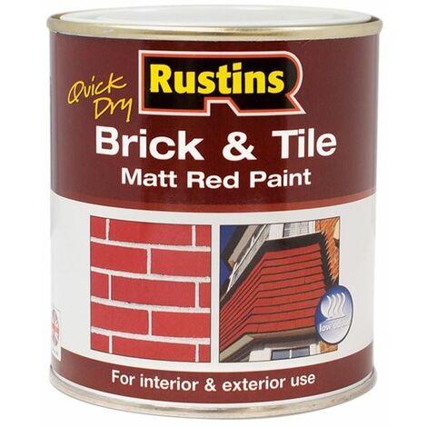 Quick Dry Brick & Tile Paint Matt Red