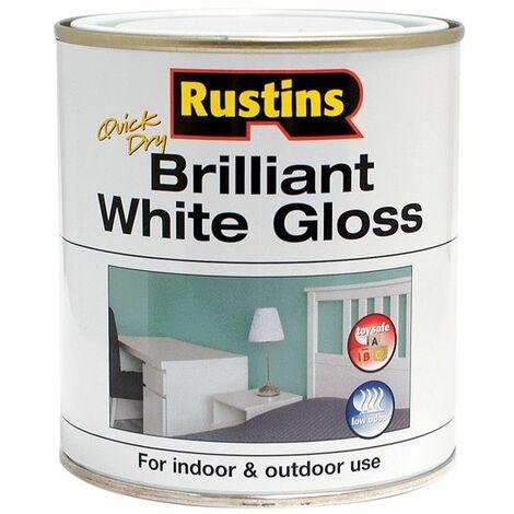 "main image of ""Quick Dry Brilliant White Gloss 1 Litre RUSWGWB1L"""