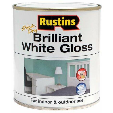"main image of ""Quick Dry Brilliant White Gloss 250ml RUSWGWB250"""
