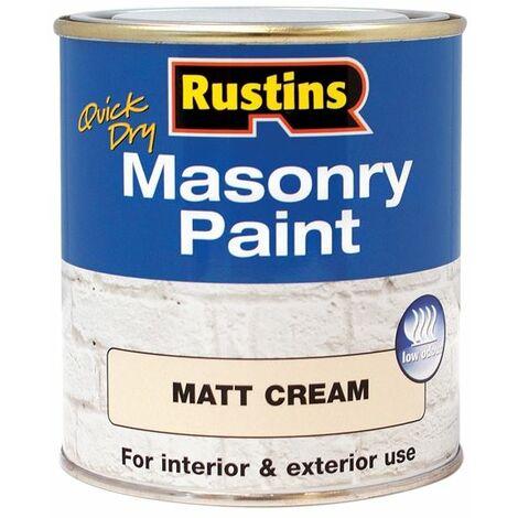 Quick Dry Masonry Paint Cream 250ml RUSMASPC250
