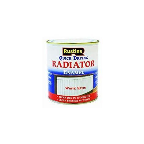 Quick Dry Radiator Enamel Paint Gloss White 250ml RUSQDREG250