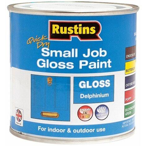 Quick Dry Small Job Gloss Paint Delphinium 250ml RUSSJPDELQD