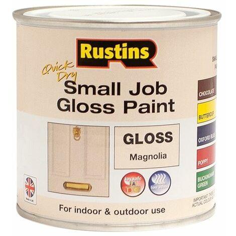 Quick Dry Small Job Gloss Paint Magnolia 250ml RUSSJMAGQD
