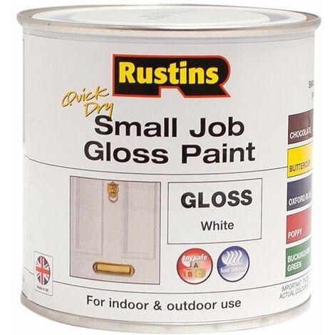 Quick Dry Small Job Gloss Paint White 250ml RUSSJPWHQD