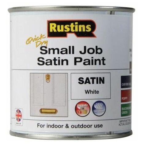 Quick Dry Small Job Satin Paint White 250ml (RUSSJPSWHQD)