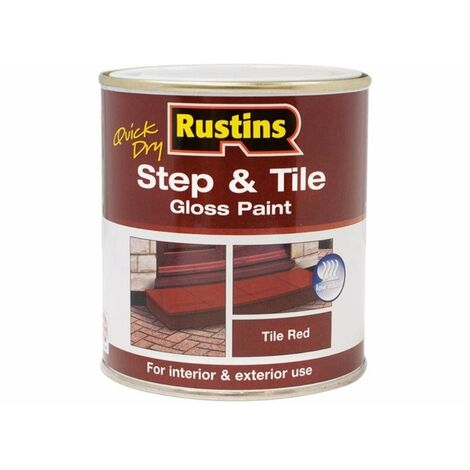Quick Dry Step & Tile Paint Gloss Red 250ml RUSSTP250Q