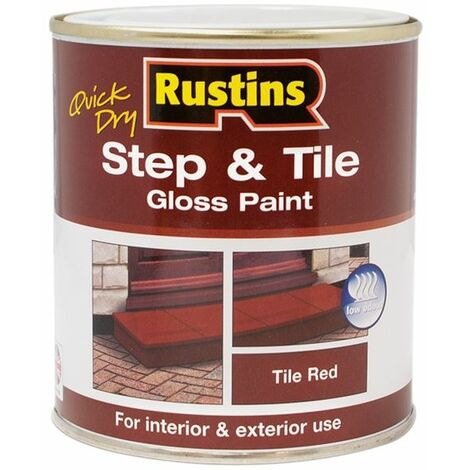 Quick Dry Step & Tile Paint Gloss Red 500ml RUSSTP500Q