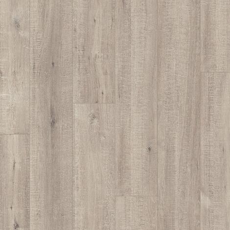 """Quick-Step Impressive """"IM1858 Chêne raboté gris monolames"""" - 19 cm x 138 cm"""