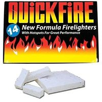Quickfire Fire lighters 14 Pack Hotspots Burners for BBQ Coal or Woodburners