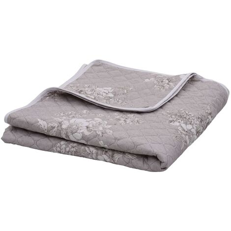 Quilt Taupe 220x240 cm Ultrasonic Fabric