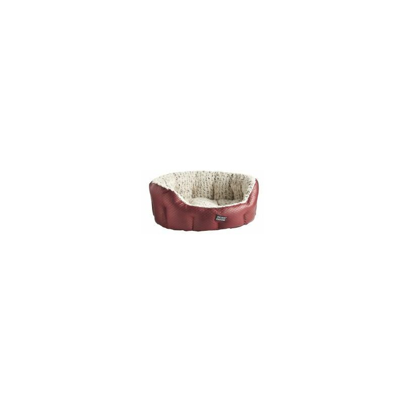 Image of Quilted Faux Leather Burgundy - - 303041