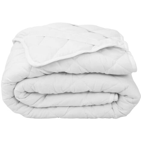 Quilted Mattress Protector White 140x200 cm Light