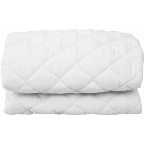Quilted Mattress Protector White 160x200 cm Heavy