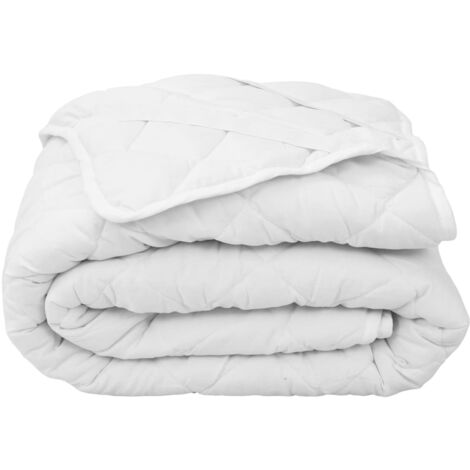 Quilted Mattress Protector White 160x200 cm Light