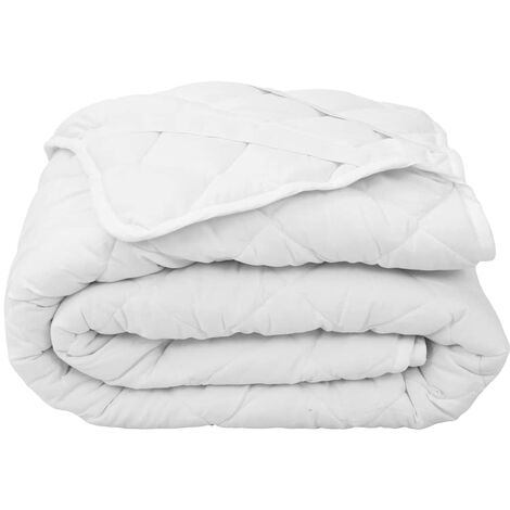 Quilted Mattress Protector White 180x200 cm Light