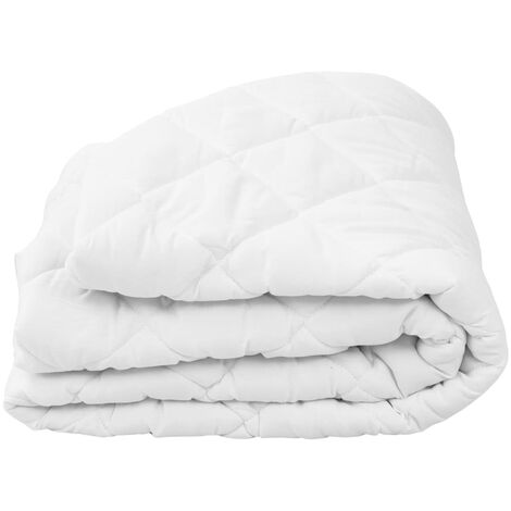 Quilted Mattress Protector White 70x140 cm Light