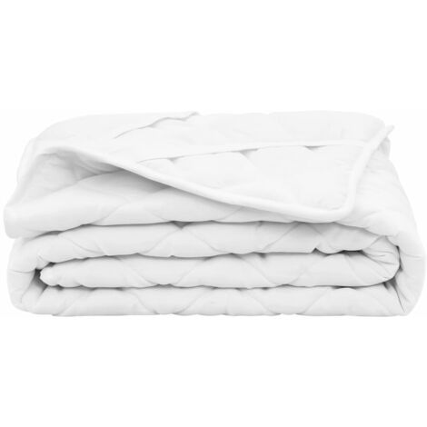 Quilted Mattress Protector White 90x200 cm Heavy