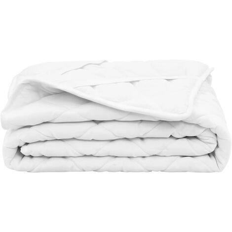 Quilted Mattress Protector White 90x200 cm Light