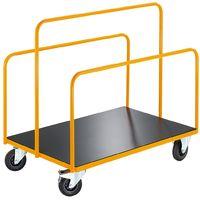 QUIPO Chariot porte-panneaux - avec 3 supports tubulaires soudés - force 350 kg