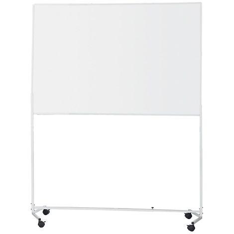 QUIPO Tableau blanc avec châssis roulant - magnétique - l x h 1500 x 1000 mm