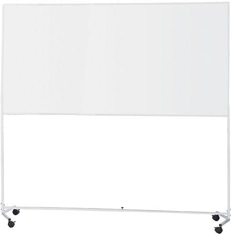 QUIPO Tableau blanc avec châssis roulant - magnétique - l x h 2000 x 1000 mm