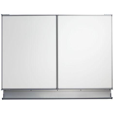 QUIPO Tableau mural pliable - l x h ouvert 3000 x 1000 mm - largeur tableau de base 1500 mm