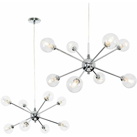 Quirky Lounge Living Room Lighting 8 Way Ceiling Light