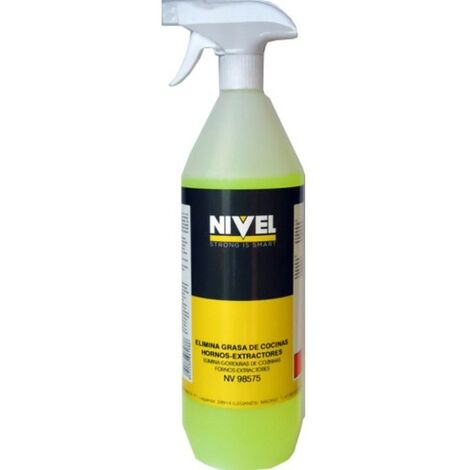 Quitagrasa cocinas hornos extractores spray nivel 1 lt