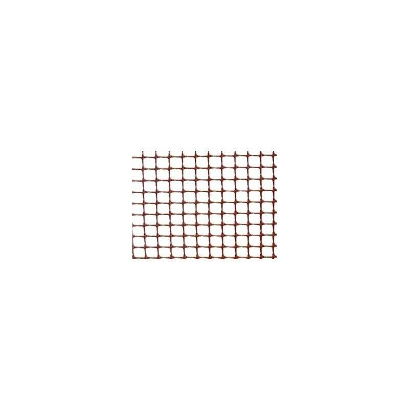 R/25m. maille plastique c-111 1mt marron 10x10 cuadranet premiun
