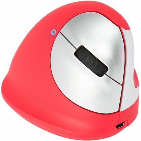 R-GO Tools R-Go HE Sport - Souris ergonomique - Moyen (165-195mm) - Droitier - Bluetooth - Rouge - Droitier - Conception verticale - Bluetooth - 2400 DPI - Rouge (RGOHEREDR)