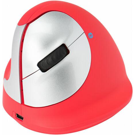R-GO Tools R-Go HE Sport - Souris ergonomique - Moyen (165-195mm) - Gaucher - Bluetooth - Rouge - Gauche - Bluetooth - 2400 DPI - Rouge (RGOHEREDL)