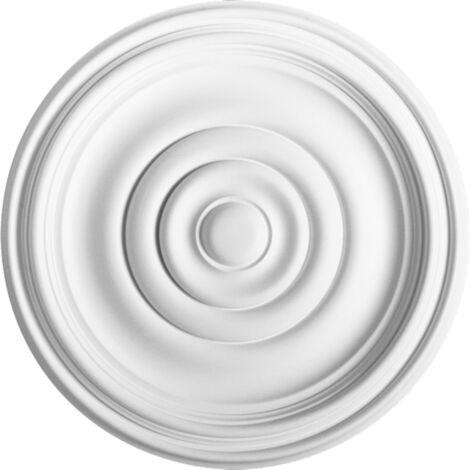 R08 Rosace décoration de plafond Orac Decor - ø38cm - moulure polyuréthane - tube de colle : Sans tube de colle