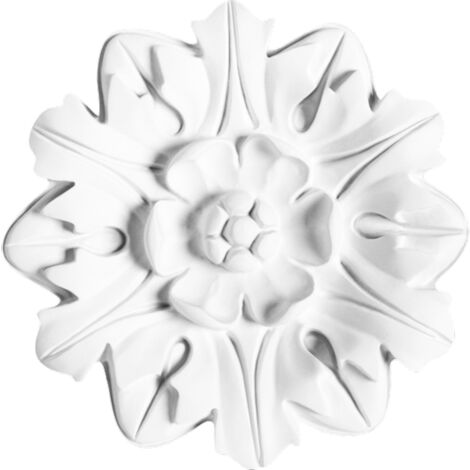 R12 Rosace de plafond Orac Decor ø 20cm - moulure décorative polyuréthane - tube de colle : Sans tube de colle