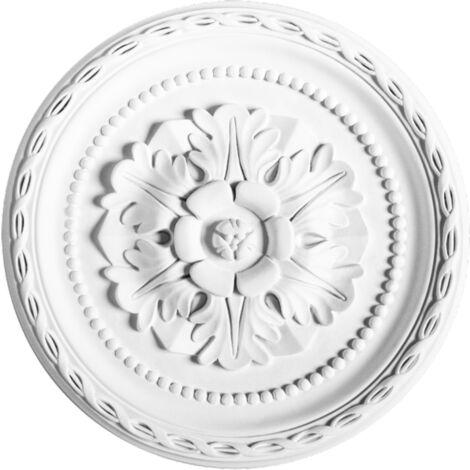 R13 Rosace décoration de plafond Orac Decor - ø 28.5cm - moulure polyuréthane - tube de colle : Sans tube de colle