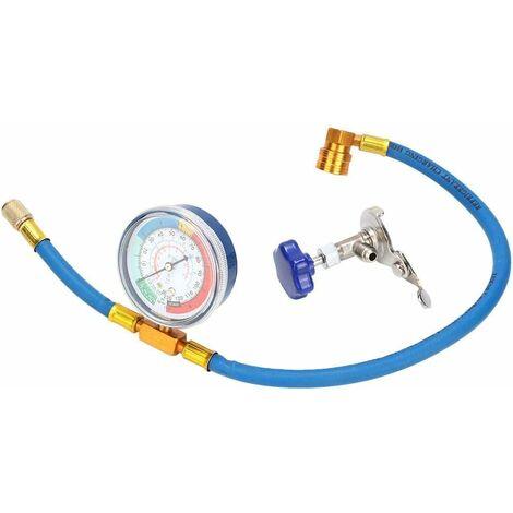 R134A R12 Tuyau de mesure de recharge avec manomètre, Kit de tuyau de charge de réfrigérant, manomètre de climatisation