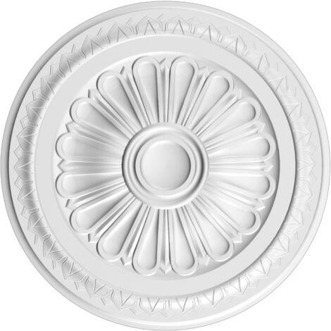 R14 Rosace décoration de plafond Orac Decor - ø 33.5cm - moulure polyuréthane - tube de colle : Sans tube de colle