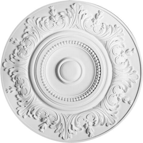 R17 Rosace décoration de plafond Orac Decor - ø 47cm - moulure polyuréthane - tube de colle : Sans tube de colle
