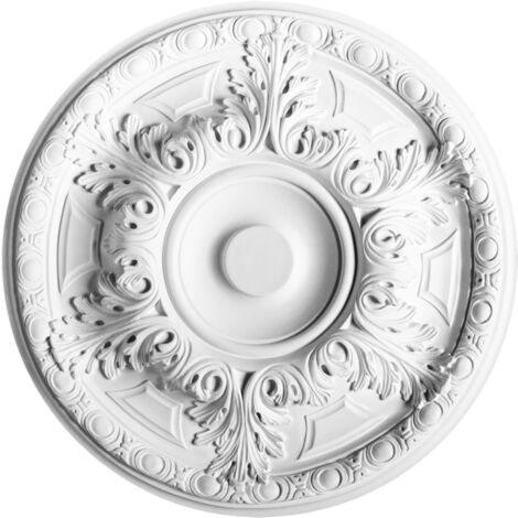 R18 Rosace de plafond Orac Decor ø 49cm - moulure décorative polyuréthane - tube de colle : Sans tube de colle