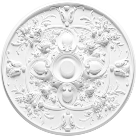 R24 Rosace de plafond Orac Decor ø 79cm - moulure décorative polyuréthane - tube de colle : Sans tube de colle